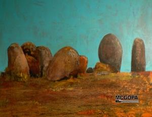 Menhirs of alentejo stateyl stones