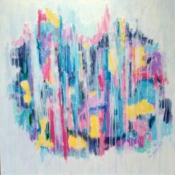 19_Carnival in the rain_Acrylic on canvas_30 H x 30 W