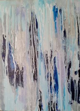 6_Frosted Windows_Melting Frost_Acrylic on canvas 14 H x 11 W